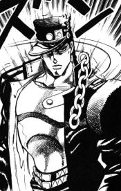 Jotaro Kujo, from JoJo's Bizarre Adventure