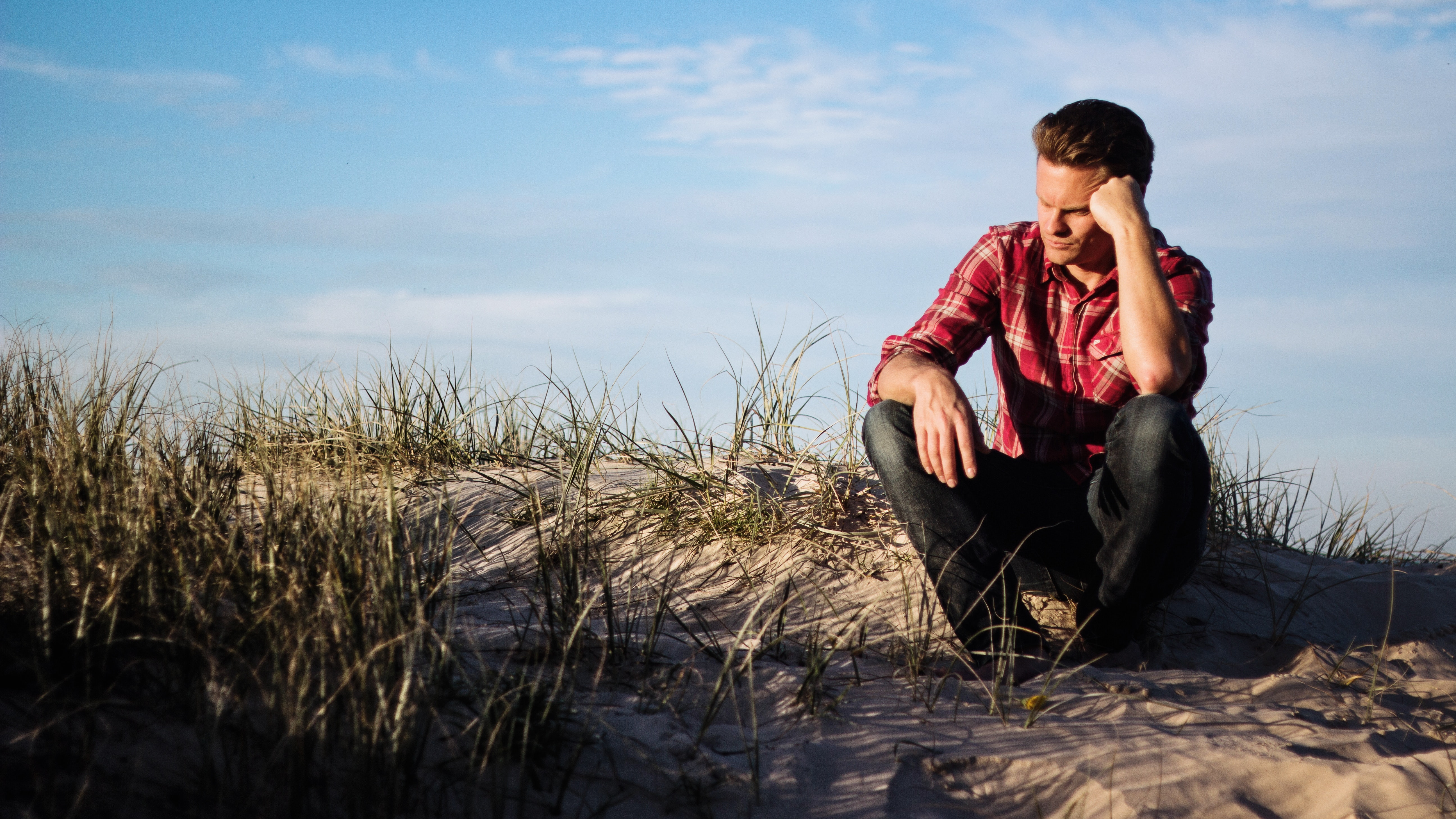 Man questioning about finding purpose in life